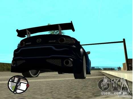 Mazda RX8 para GTA San Andreas vista inferior