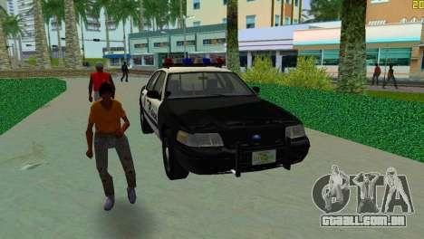 Ford Crown Victoria Police 2003 para GTA Vice City vista traseira