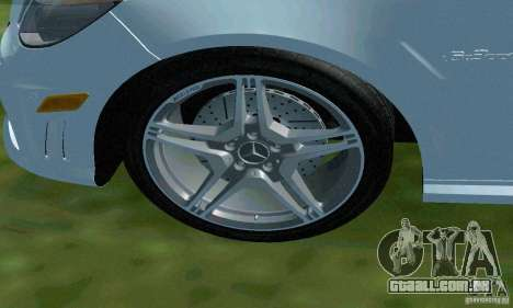 Mercedes-Benz E63 DPS para GTA San Andreas vista inferior