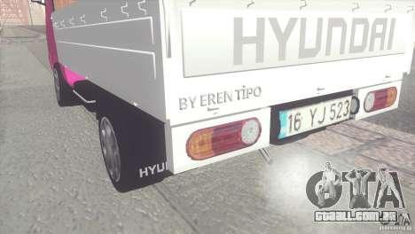 Hyundai H100 Kamyonet para GTA San Andreas traseira esquerda vista
