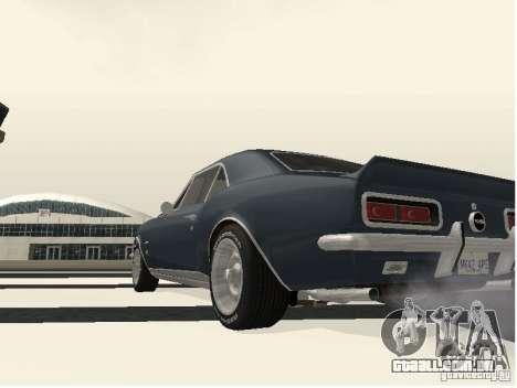 Chevrolet Camaro SS 396 Turbo-Jet para GTA San Andreas vista direita