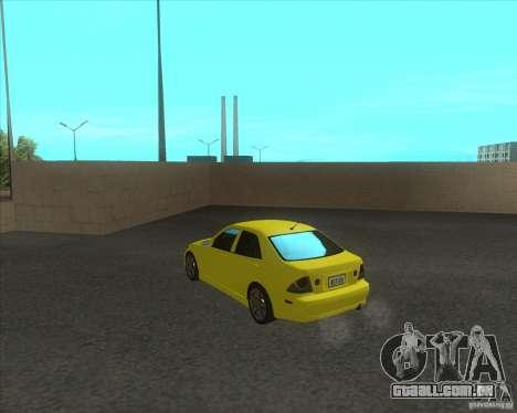 Lexus IS300 tuning para GTA San Andreas traseira esquerda vista