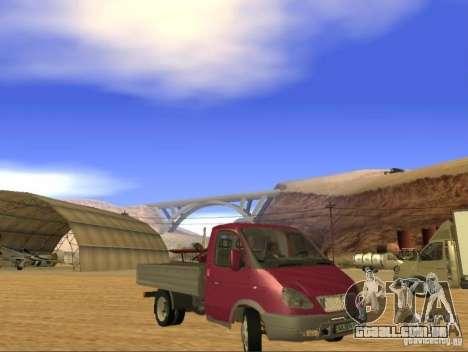 3302 gazela para GTA San Andreas esquerda vista