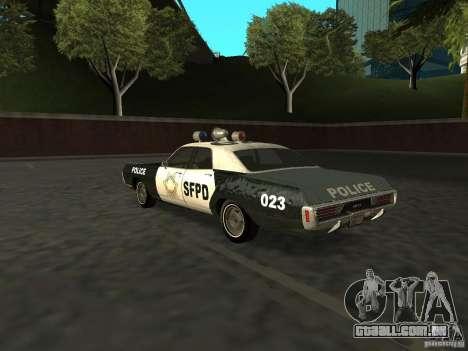 Dodge Polara Police 1971 para GTA San Andreas esquerda vista