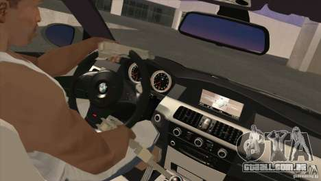 BMW M5 E60 2009 para GTA San Andreas vista interior