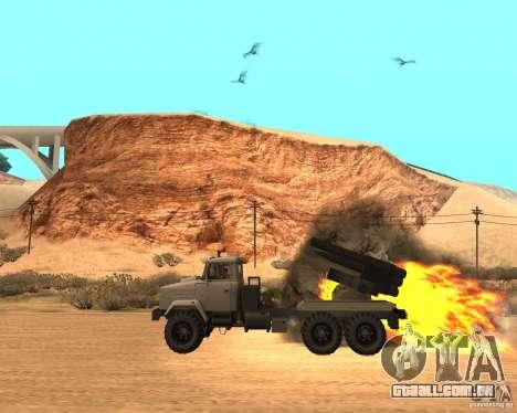 KrAZ-63211 JAMZ v. 1 para GTA San Andreas esquerda vista