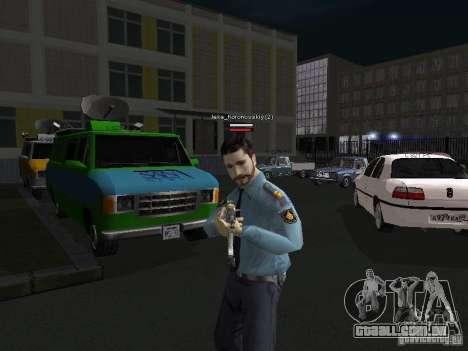 Peles de milícia para GTA San Andreas por diante tela