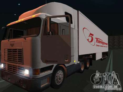 International Navistar 9800 para GTA San Andreas vista interior