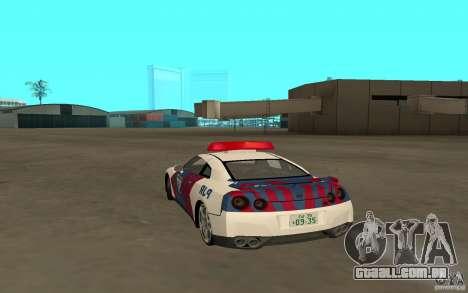 Nissan GT-R R35 Indonesia Police para GTA San Andreas esquerda vista