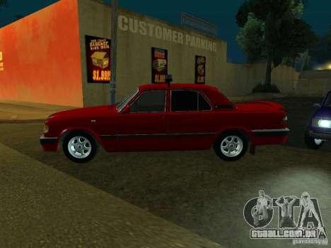 GAZ 3110 para GTA San Andreas traseira esquerda vista