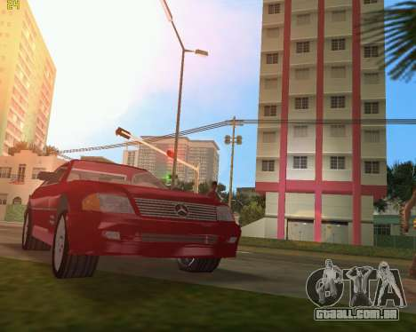 Mercedes-Benz SL600 1999 para GTA Vice City vista traseira