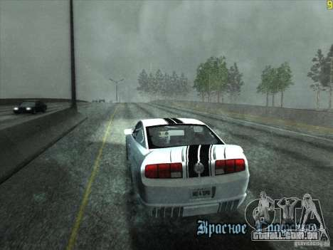 ENBseries v0.075 v3 para GTA San Andreas por diante tela