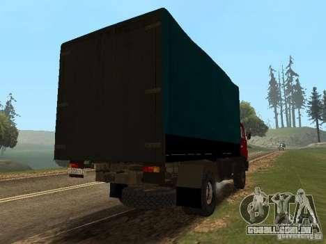 KAMAZ 5325 para GTA San Andreas traseira esquerda vista