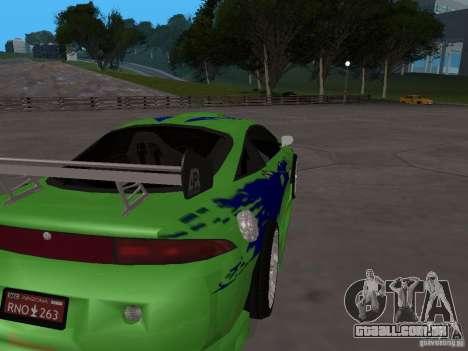Mitsubishi Eclipse Tunable para GTA San Andreas vista direita