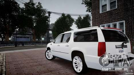 Cadillac Escalade ESV para GTA 4 esquerda vista