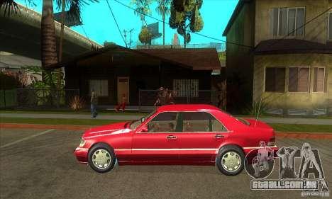 Mercedes-Benz S600 1999 para GTA San Andreas traseira esquerda vista