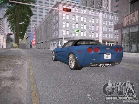 Chevrolet Corvette ZR1 para GTA San Andreas vista interior