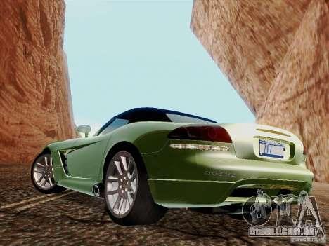 Dodge Viper SRT-10 Roadster para GTA San Andreas esquerda vista