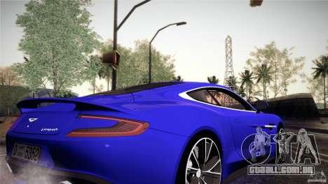 Aston Martin Vanquish V12 para GTA San Andreas vista interior