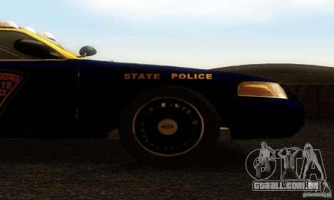 Ford Crown Victoria West Virginia Police para GTA San Andreas vista direita