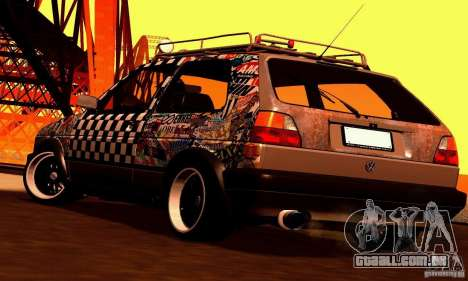 Volkswagen MK II GTI Rat Style Edition para GTA San Andreas vista interior