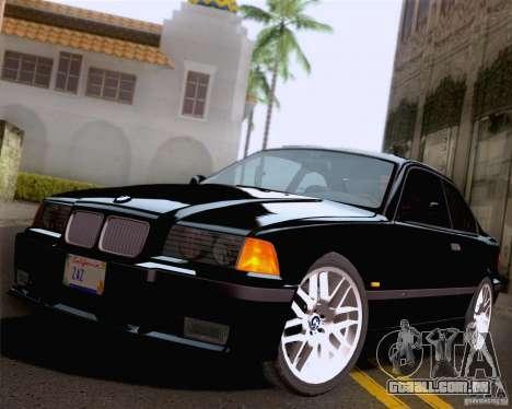 BMW M3 E36 New Wheels para GTA San Andreas vista inferior