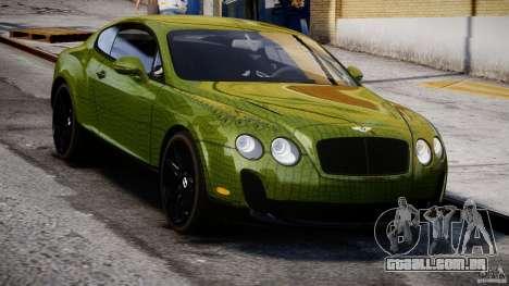 Bentley Continental SS 2010 Suitcase Croco [EPM] para GTA 4 vista de volta