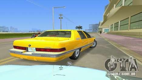 Buick Roadmaster 1994 para GTA Vice City vista traseira esquerda