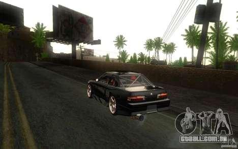 Nissan Silvia S13 Onevia para GTA San Andreas vista traseira