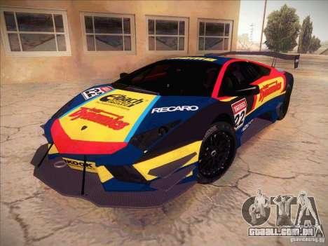 Lamborghini Reventon GT-R para GTA San Andreas vista interior