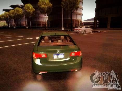 Acura TSX para GTA San Andreas traseira esquerda vista