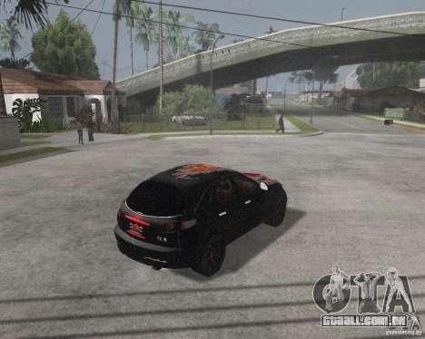 Infiniti FX35 para GTA San Andreas traseira esquerda vista