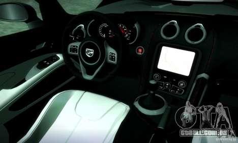 Dodge Viper SRT  GTS para GTA San Andreas vista interior