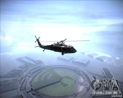 Sikorsky VH-60N Whitehawk para GTA San Andreas traseira esquerda vista