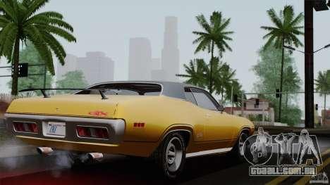 Plymouth GTX 426 HEMI 1971 para GTA San Andreas esquerda vista