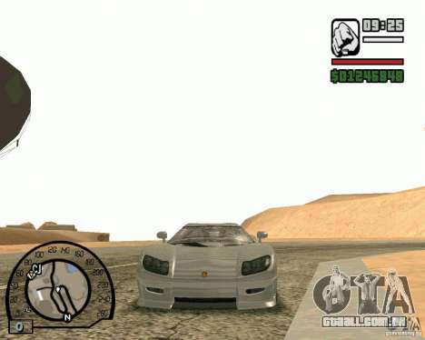 Koenigsegg CC8S para GTA San Andreas traseira esquerda vista