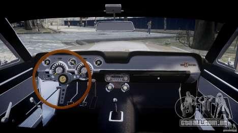 Shelby GT500 1967 para GTA 4 vista direita