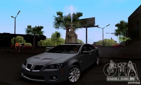 Pontiac G8 GXP para GTA San Andreas vista direita