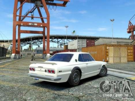 Nissan Skyline 2000 GTR para GTA 4 esquerda vista