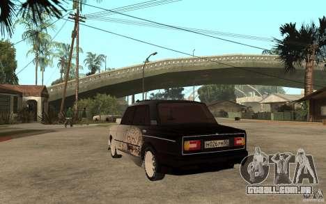 VAZ 2106 duro sintonizado para GTA San Andreas traseira esquerda vista