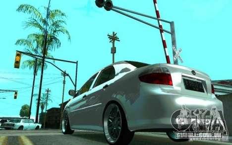 Toyota Vios para GTA San Andreas traseira esquerda vista
