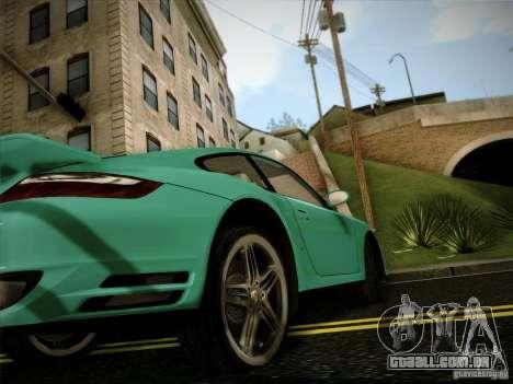 Porsche 911 (997) turbo para GTA San Andreas vista direita