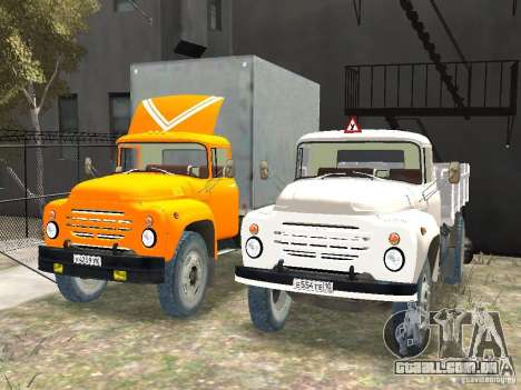ZIL 130-431410 Final para GTA 4 vista de volta