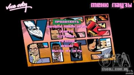 Menue Mod Beta para GTA Vice City segunda tela