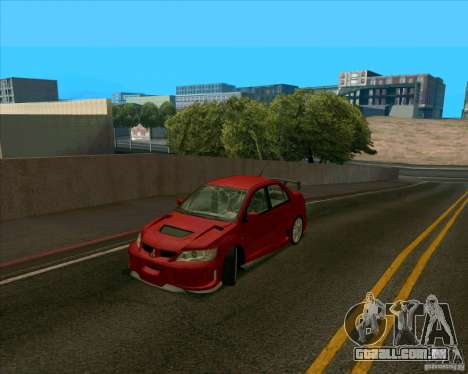 Mitsubishi Lancer Evolution 8 MostWanted para GTA San Andreas esquerda vista