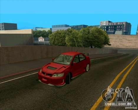 Mitsubishi Lancer Evolution 8 MostWanted para GTA San Andreas esquerda vista