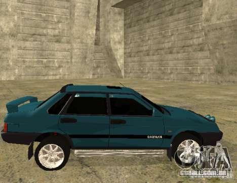 Melodia de sparco 21099 VAZ para GTA San Andreas vista traseira