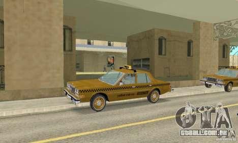 Dodge Diplomat 1985 Taxi para GTA San Andreas vista direita