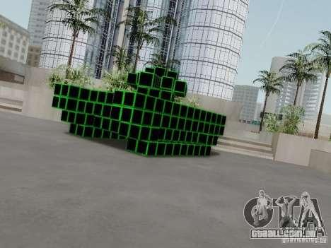 Pixel Tank para GTA San Andreas traseira esquerda vista