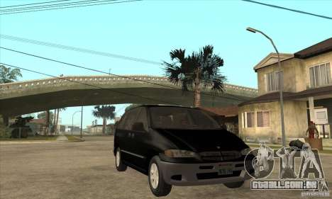 Dodge Caravan 1996 para GTA San Andreas vista traseira